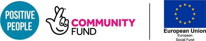 Positive People, Community fund and EU logo